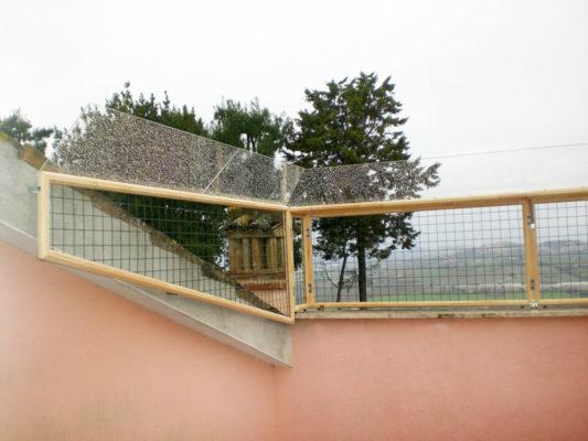 Protezione terrazzo con camminamento