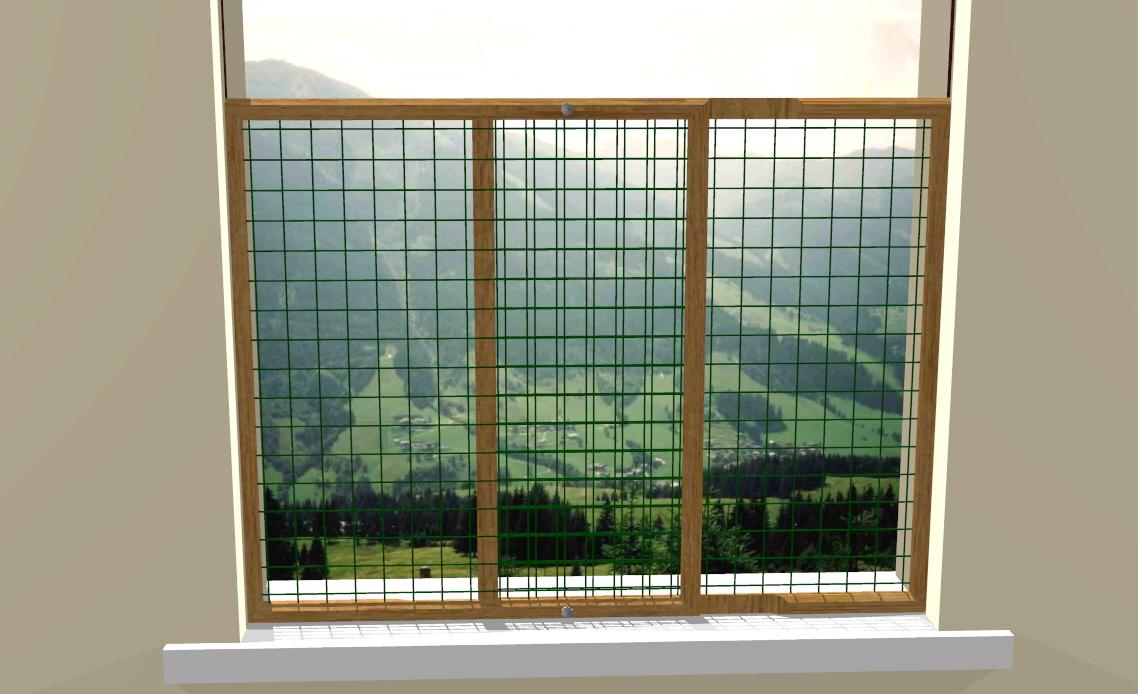 Protezione scorrevole finestra